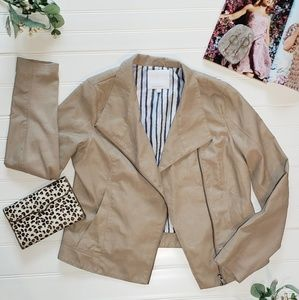 Anthropologie Faux Leather Jacket Size Large